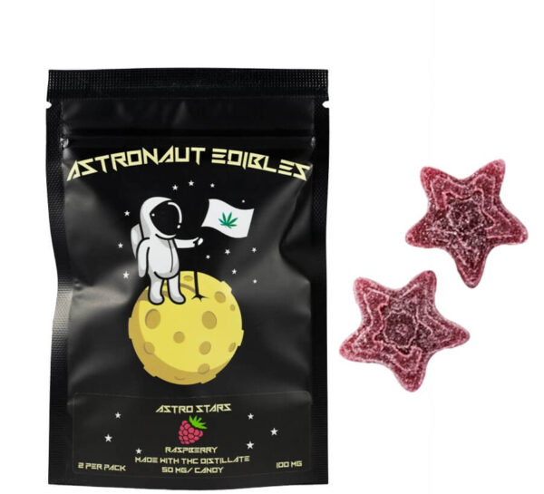 ASTRONAUT GUMMY STARS Raspberry-100mg