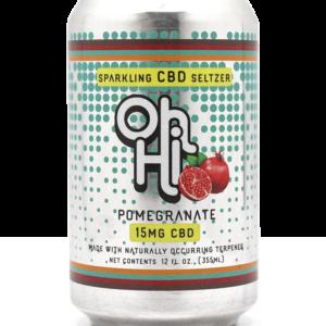 Oh Hi CBD Seltzer Pomegranate